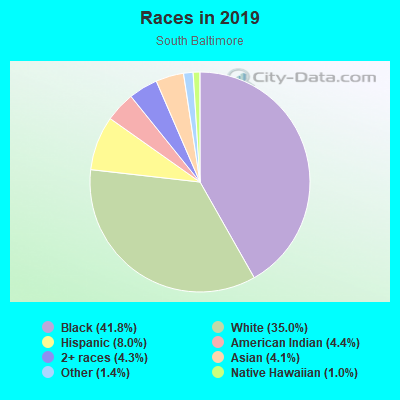 Races in South Baltimore in Curtis Bay neighborhood in MD