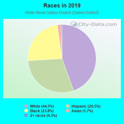 Races in White Street Gallery District in Key West neighborhood in FL