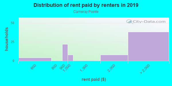 Rent paid by renters in 2013 in Cameray Pointe in Laguna Niguel neighborhood in CA