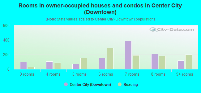 Rooms in owner-occupied houses and condos in Center City (Downtown)