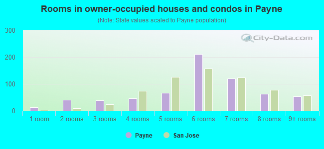 Rooms in owner-occupied houses and condos in Payne