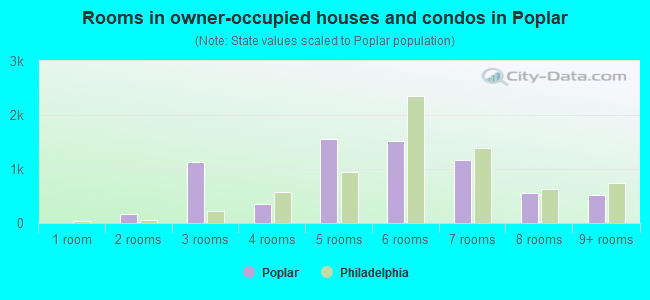 Rooms in owner-occupied houses and condos in Poplar