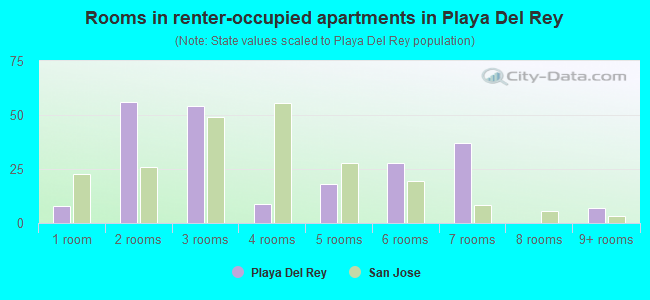 Rooms in renter-occupied apartments in Playa Del Rey