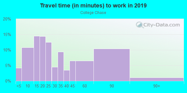 Commute time to work in College Chase in Ruskin neighborhood in FL