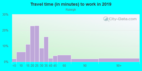 Commute time to work in Raleigh in Memphis neighborhood in TN