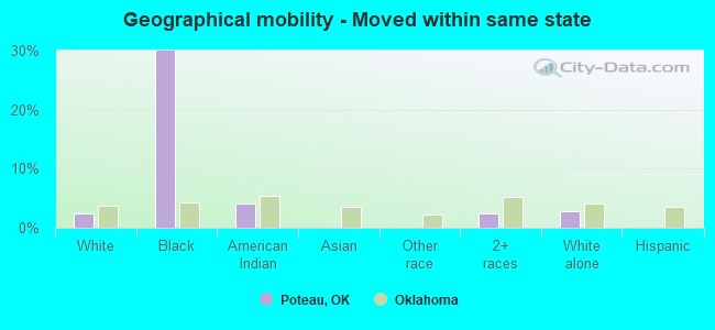 Geographical mobility -  Moved within same state