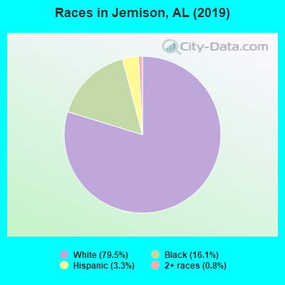 Races in Jemison, AL (2010)