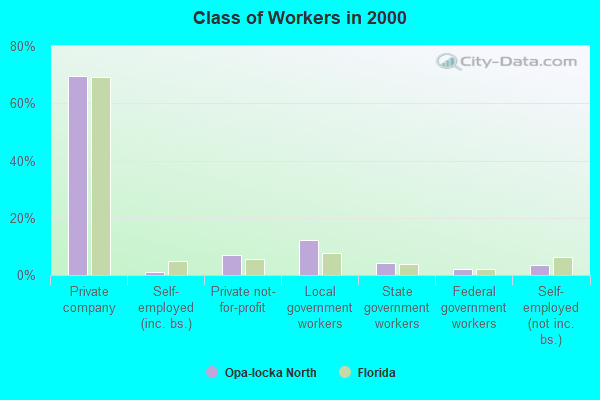 Class of Workers in 2000