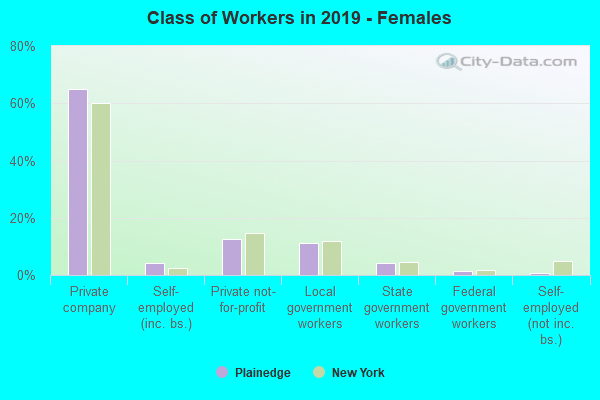 Class of Workers in 2016 - Females