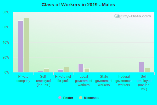 Class of Workers in 2016 - Males