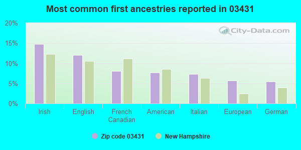 Most common first ancestries reported in 03431