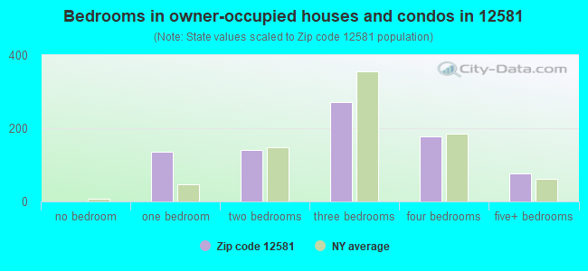 Bedrooms in owner-occupied houses and condos in 12581