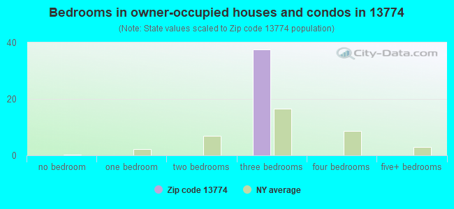 Bedrooms in owner-occupied houses and condos in 13774