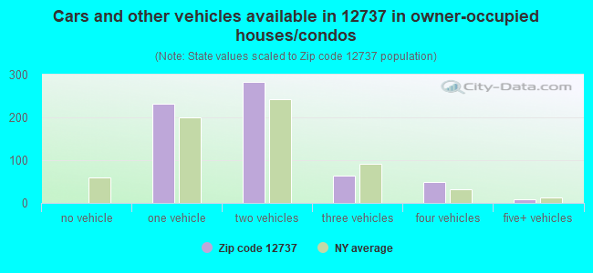 Cars and other vehicles available in 12737 in owner-occupied houses/condos