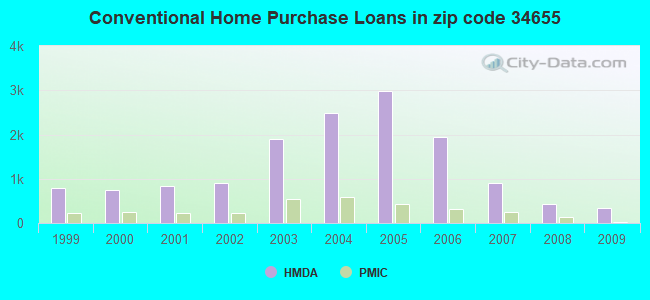 Conventional Home Purchase Loans in zip code 34655