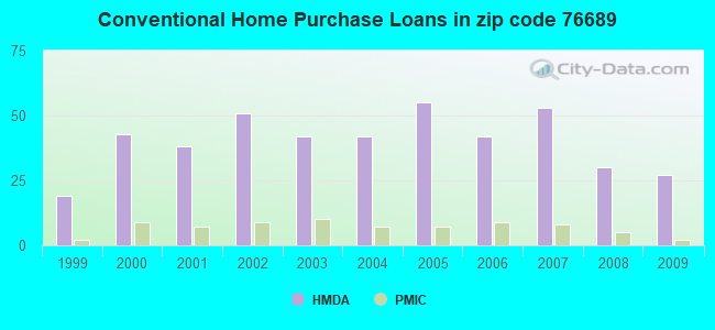 Conventional Home Purchase Loans in zip code 76689