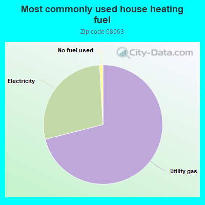 Most commonly used house heating fuel