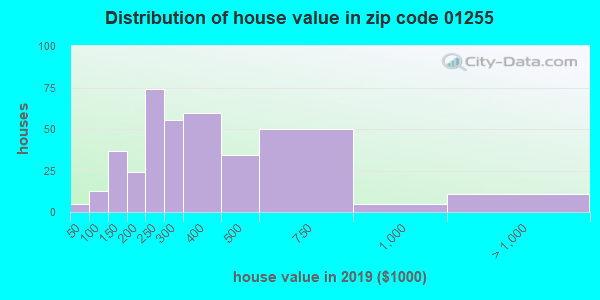 Zip code 01255 house/condo values in 2010