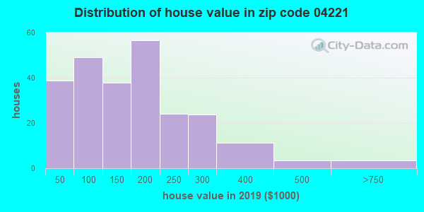 Zip code 04221 house/condo values in 2010