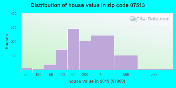Zip code 07513 house/condo values in 2010