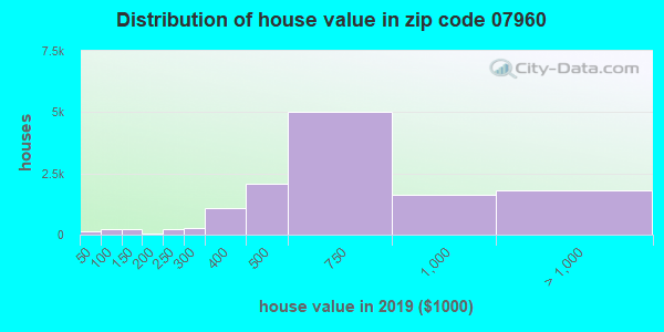 Zip code 07960 house/condo values in 2010