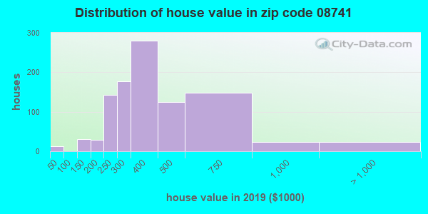 Zip code 08741 house/condo values in 2010