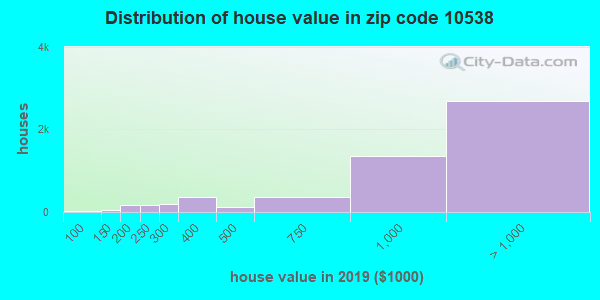 Zip code 10538 house/condo values in 2010