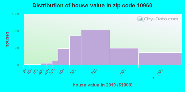 Zip code 10960 house/condo values in 2010