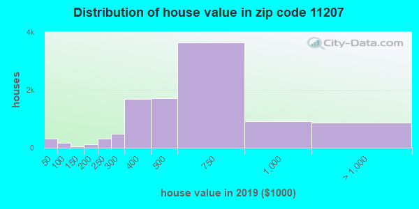 Zip code 11207 house/condo values in 2010