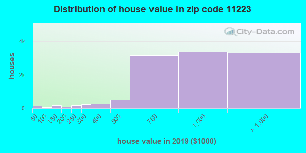 Zip code 11223 house/condo values in 2010