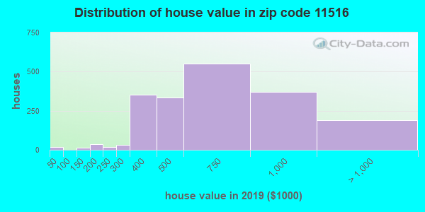 Zip code 11516 house/condo values in 2010
