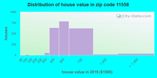 Zip code 11558 house/condo values in 2010