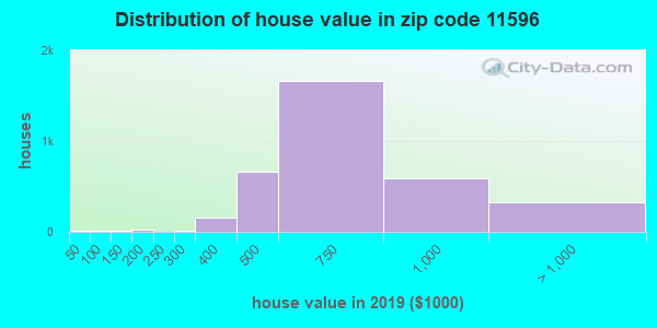 Zip code 11596 house/condo values in 2010