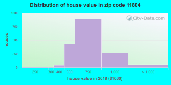 Zip code 11804 house/condo values in 2010