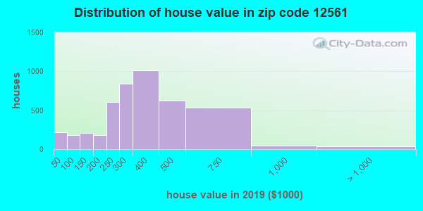 Zip code 12561 house/condo values in 2010