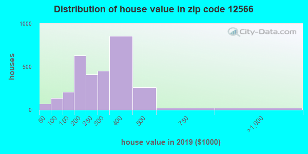 Zip code 12566 house/condo values in 2010
