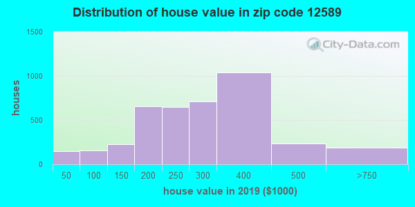 Zip code 12589 house/condo values in 2011