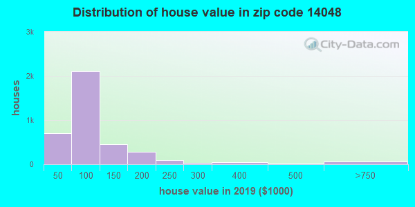 Zip code 14048 house/condo values in 2010
