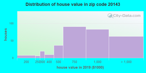 Zip code 20143 house/condo values in 2010