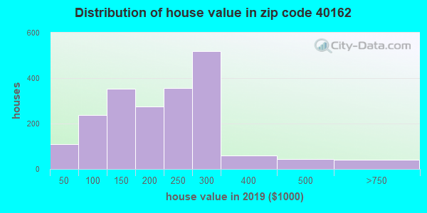 Zip code 40162 house/condo values in 2010