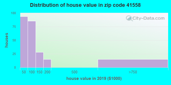 Zip code 41558 house/condo values in 2010