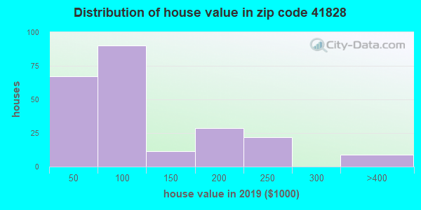 Zip code 41828 house/condo values in 2010