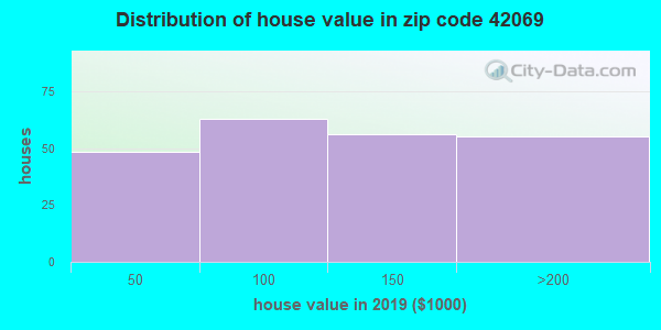 Zip code 42069 house/condo values in 2010