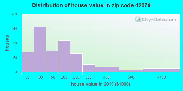 Zip code 42079 house/condo values in 2010