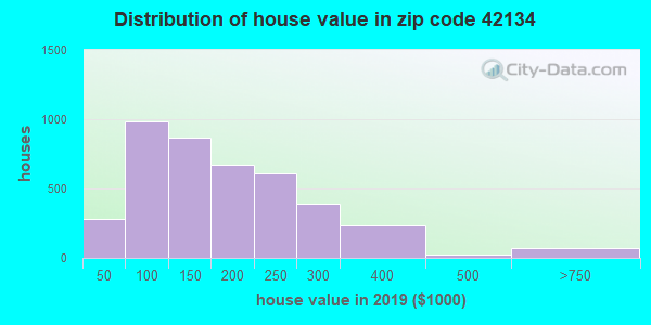 Zip code 42134 house/condo values in 2010