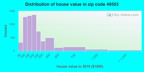 Zip code 49503 house/condo values in 2010