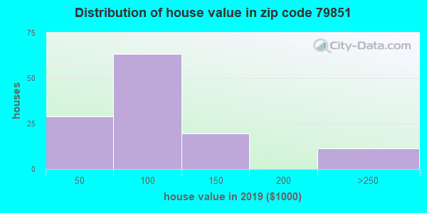 Zip code 79851 house/condo values in 2010