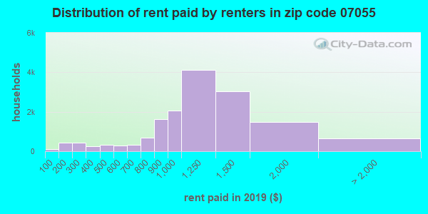 07055 rent paid by renters