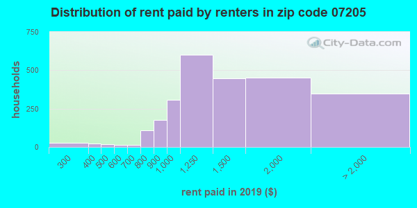 07205 rent paid by renters