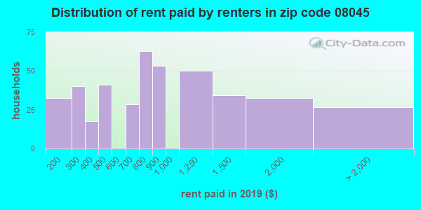 08045 rent paid by renters